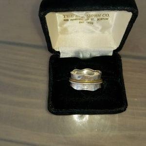 .925 Sterling Silver Spinner Meditation Ring